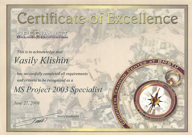 MS Project Specialist
